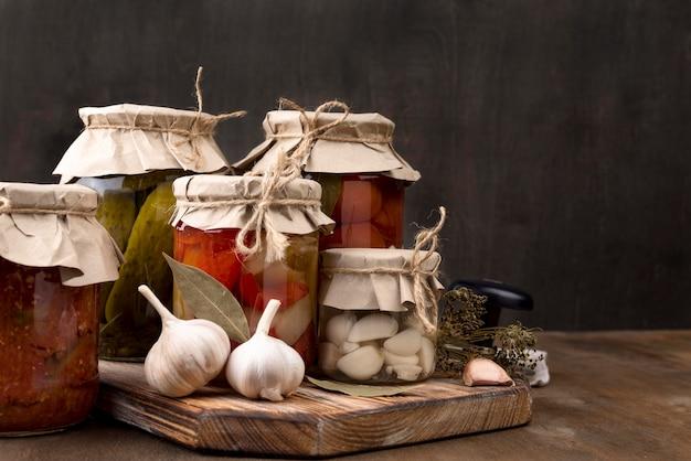 Homemade preserves arrangement