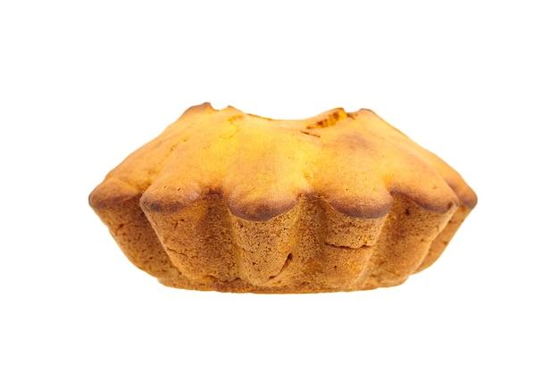 집에서 만드는 호박 케이크 흰색 배경에 고립입니다. 추수 감사절에 대 한 격리 된가 호박 과자