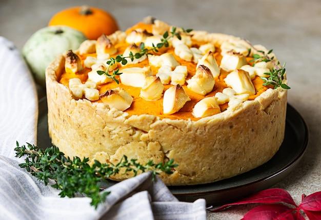 Домашний тыквенный пирог или пирог на день благодарения.