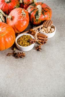 Homemade pumpkin spices set