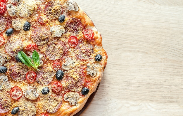 Homemade regina pizza