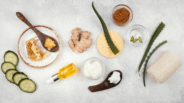 Homemade remedy with aloe vera