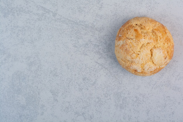 Homemade round cookie on gray background
