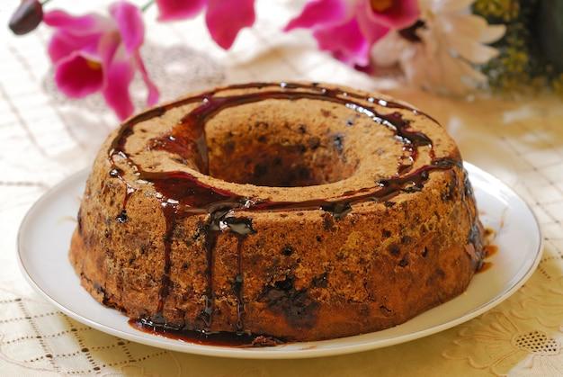 Домашний деревенский шоколадный торт. бразильский десерт.
