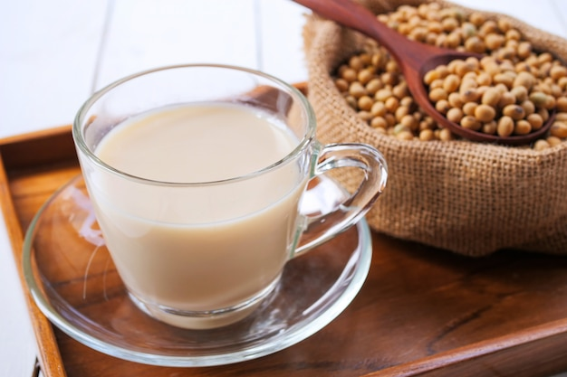 Homemade soy milk and soybean