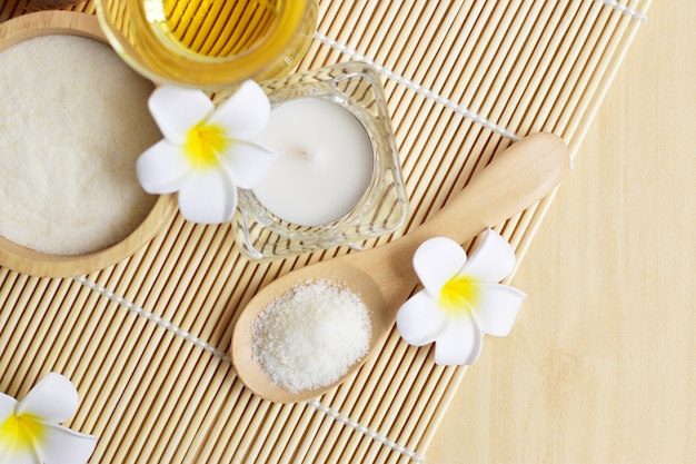 Homemade spa set which consists of body and facial scrub