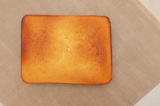 Homemade sponge cake in brazilian portuguese pao de lo