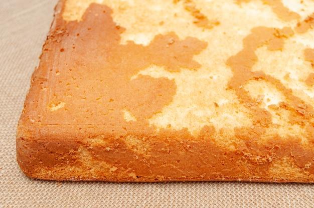 Homemade sponge cake in portuguese pao de lo