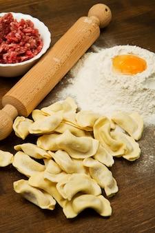 Homemade stuffed ravioli