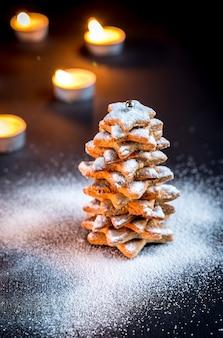 自家製の甘いクリスマスツリー
