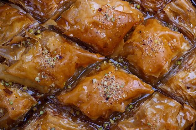 Homemade traditional baklava