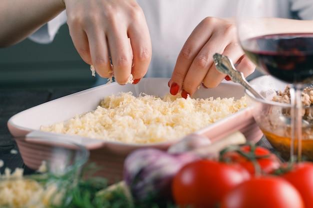 Homemade traditional lasagn
