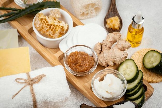 Homemade treatment ingredients arrangement