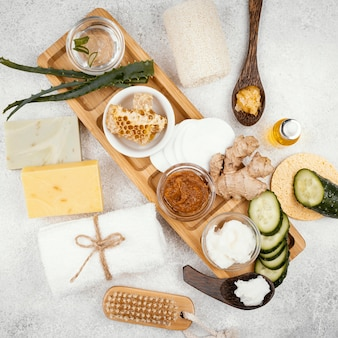 Homemade treatment ingredients assortment