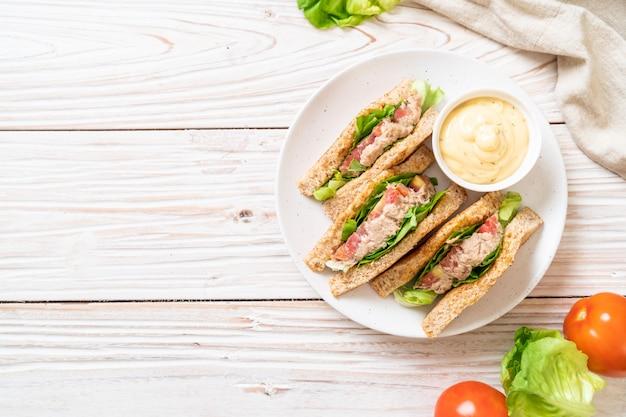 自家製マグロのサンドイッチ