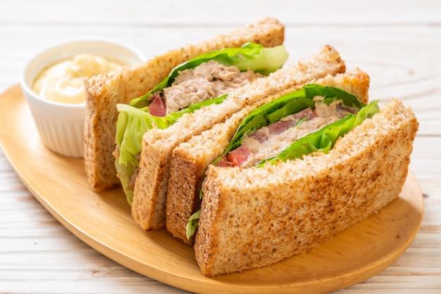 Homemade tuna sandwich