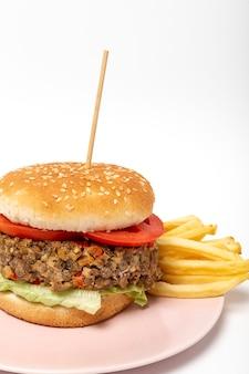 Homemade vegan lentil burger