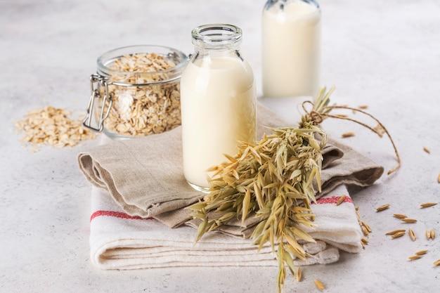Homemade vegan oat milk