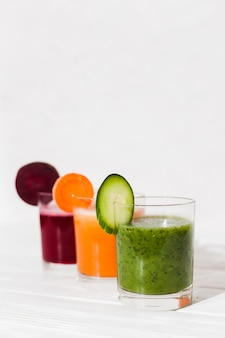 Homemade vegetable smoothies