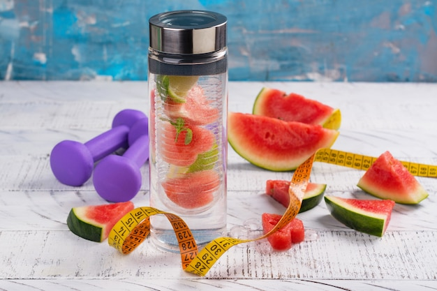 Homemade watermelon detox infused water
