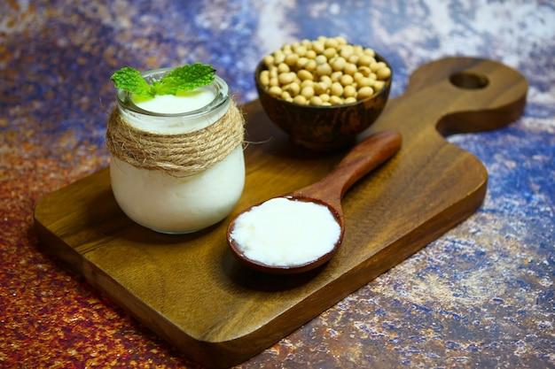 Homemade yogurt from soy milk