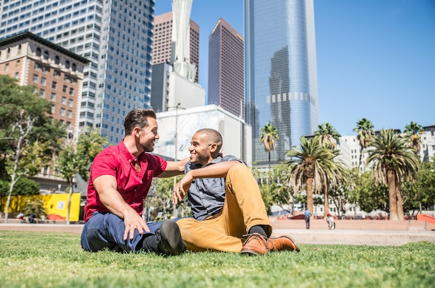 Homosexual couple dating