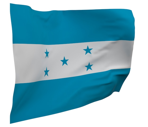 Honduras flag isolated. waving banner. national flag of honduras