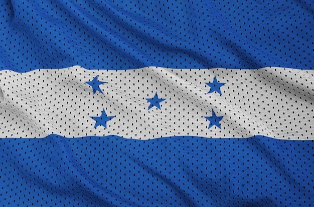 Honduras flag printed on a polyester nylon sportswear mesh fabric