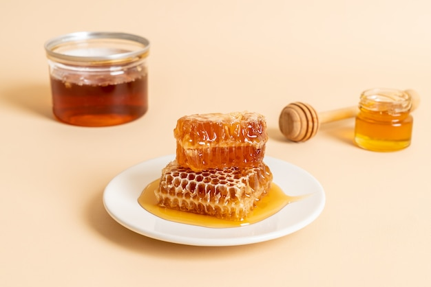 Honey and fresh honeycombs