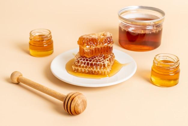 Honey and fresh honeycombs