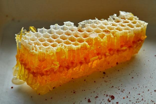 Honey honeycomb detail macro
