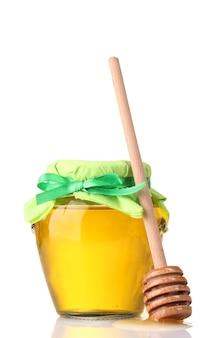 Мед, изолированные на белом фоне