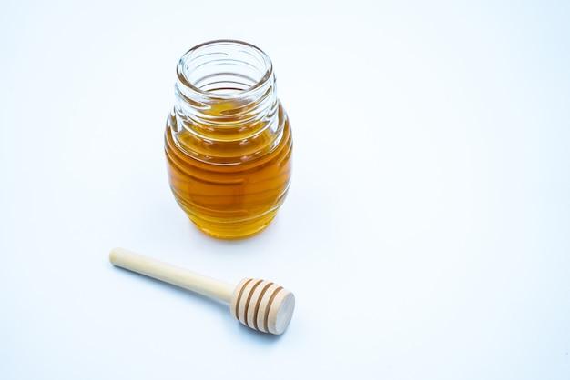 꿀 항아리, 꿀, 흰색 바탕에 벌집