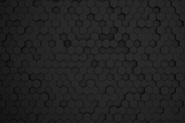 Сотовый фон с черными 3d шестиугольниками