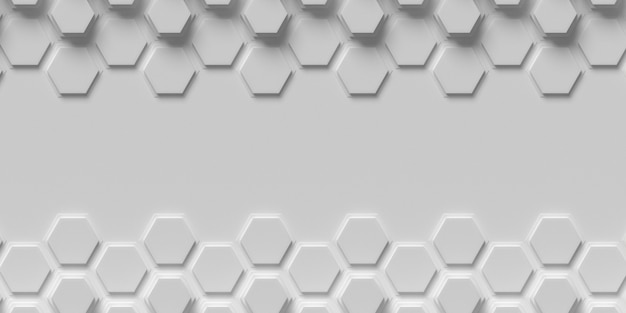Honeycomb shapes frame copy space background