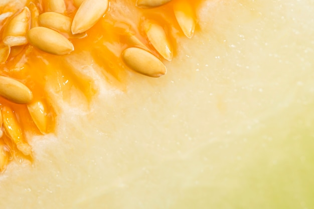 Honeydew melon with seeds