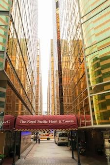 香港、中国 -  2016.12.3:香港のロイヤルパシフィックホテル&タワーズ。