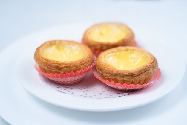 Hong kong food, egg tart