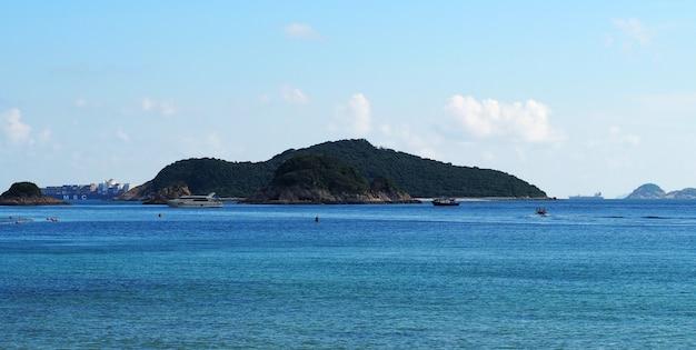 Hong kong repulse bay beach beautiful location nature landmark for tourist traveller.