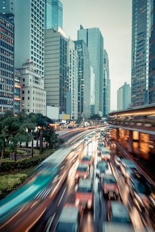 Hong kong traffic view