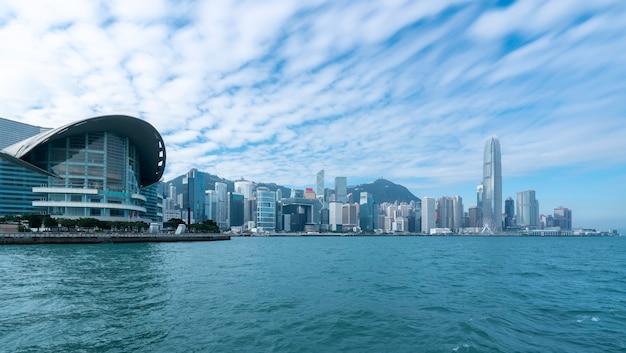 Hong kong urban architectural skyline