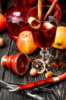 Hookah and mulled wine