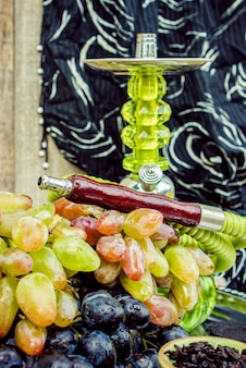 Hookah, tobacco flavor of the grapes. selective focus.