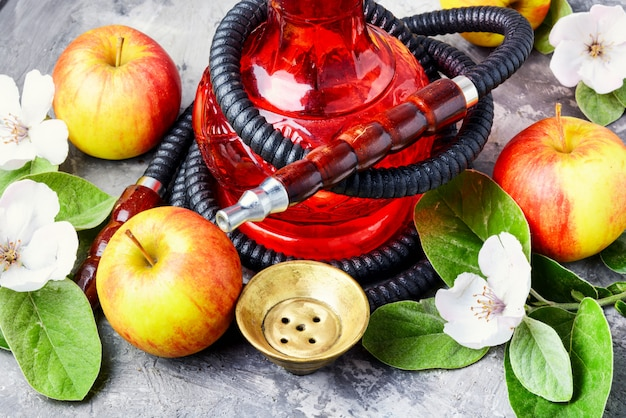 Hookah with apple