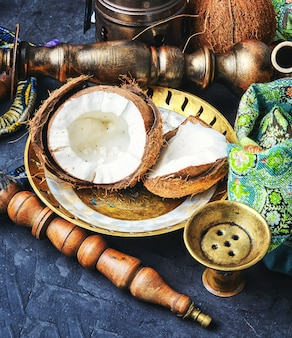 Hookah with coconut taste
