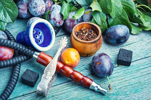 Hookah with plum taste