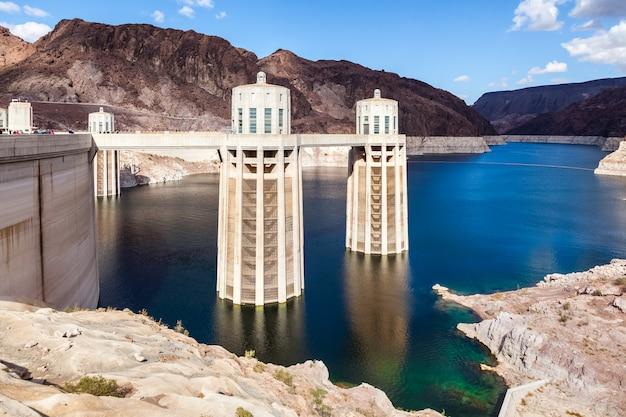 Hoover dam in arizona, usa in spring