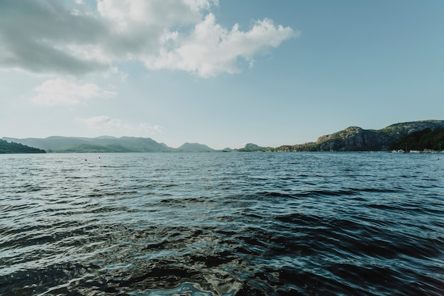 Horizon line of a lake