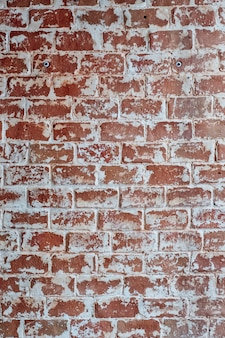 Horizon red brick wall texture grunge background, may use to interior design.