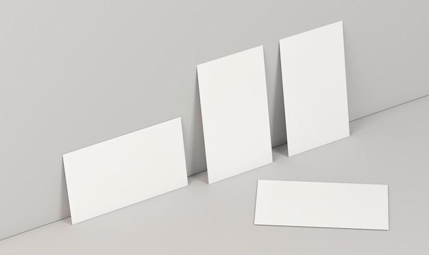 Горизонтальное и вертикальное положение визиток высокий вид